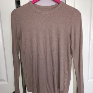 Aerie Ribbed Long Sleeve Shirt